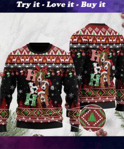 dog lover basset hound ho ho ho christmas ugly sweater