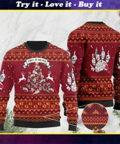 ferrets in your area pattern full printing christmas ugly sweater