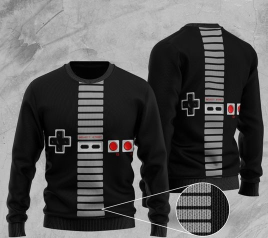 game playstation full printing ugly sweater 2 - Copy (3)