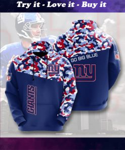 go big blue new york giants camo full printing shirt