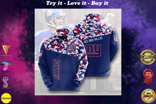 go big blue new york giants camo full printing shirt