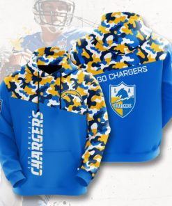 go chargers los angeles chargers camo full printing hoodie 1