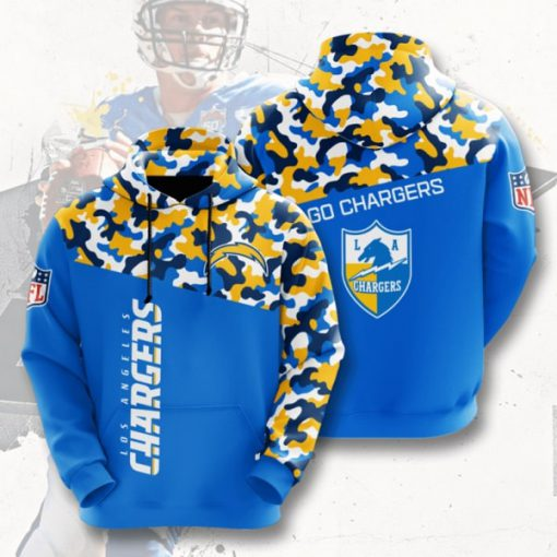 go chargers los angeles chargers camo full printing shirt 2