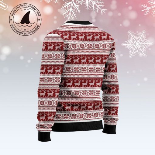 golden retriever through the snow full printing christmas ugly sweater 5