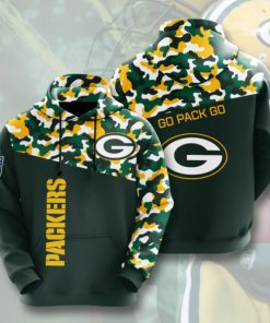 green bay packers go pack go camo full printing hoodie 1