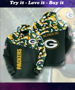 green bay packers go pack go camo full printing shirt
