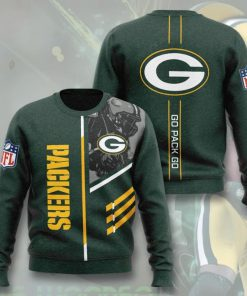 green bay packers go pack go full printing ugly sweater 5