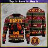 halloween happy cat pattern full printing christmas ugly sweater