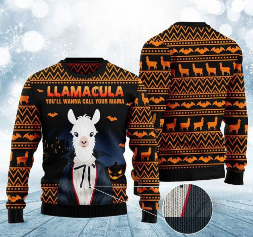 halloween llama youll wanna call me your mama christmas ugly sweater 2