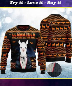 halloween llama youll wanna call me your mama christmas ugly sweater