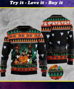 halloween rottweiler full printing christmas ugly sweater