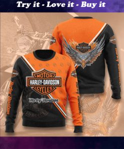 harley-davidson motorcycles full printing ugly sweater