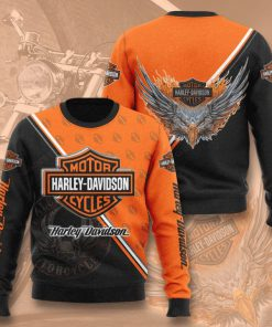harley-davidson motorcycles full printing ugly sweater 4