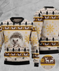 hedgehog pattern full printing christmas ugly sweater 2 - Copy (3)