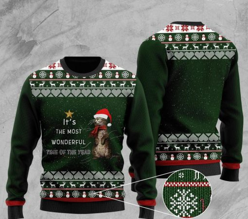 its the most wonderful time of the year otter christmas ugly sweater 2