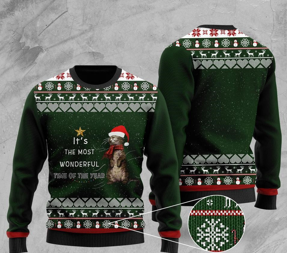 its the most wonderful time of the year otter christmas ugly sweater 2 - Copy