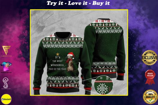 its the most wonderful time of the year otter christmas ugly sweater