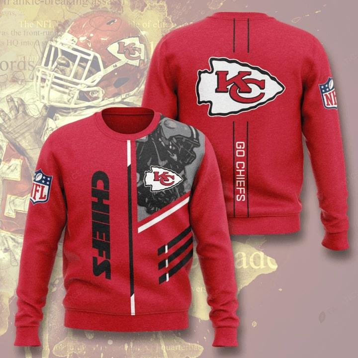 kansas city chiefs go chiefs full printing ugly sweater 2