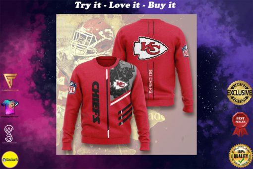 kansas city chiefs go chiefs full printing ugly sweater