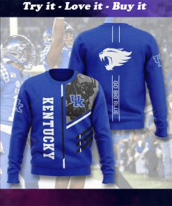 kentucky wildcats go big blue full printing ugly sweater
