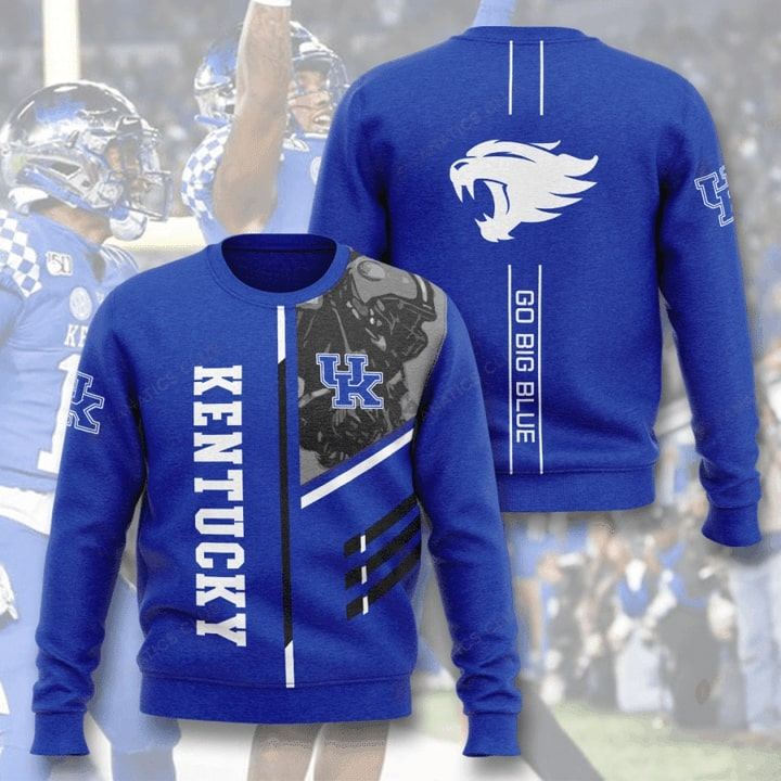 kentucky wildcats go big blue full printing ugly sweater 3