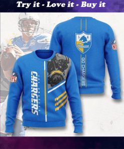 los angeles chargers go chargers full printing ugly sweater