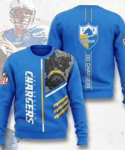 los angeles chargers go chargers full printing ugly sweater 3