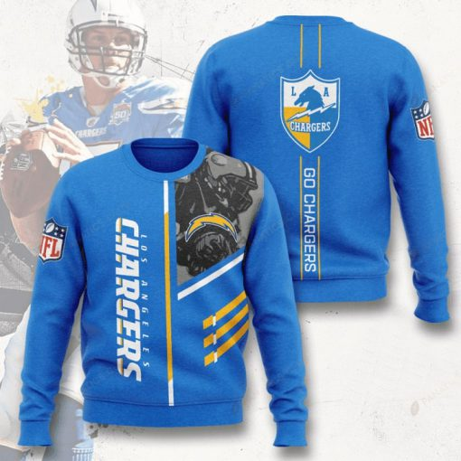 los angeles chargers go chargers full printing ugly sweater 4