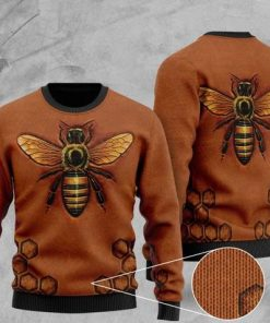 love bee all over printed christmas ugly sweater 2 - Copy (2)