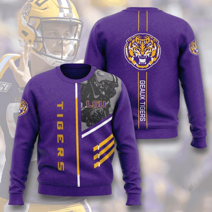 lsu tigers football geaux tigers full printing ugly sweater 2