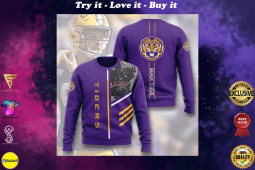 lsu tigers football geaux tigers full printing ugly sweater