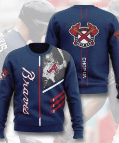 major league baseball atlanta braves chop on full printing ugly sweater 2