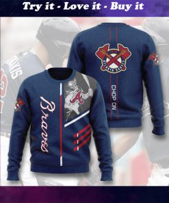 major league baseball atlanta braves chop on full printing ugly sweater