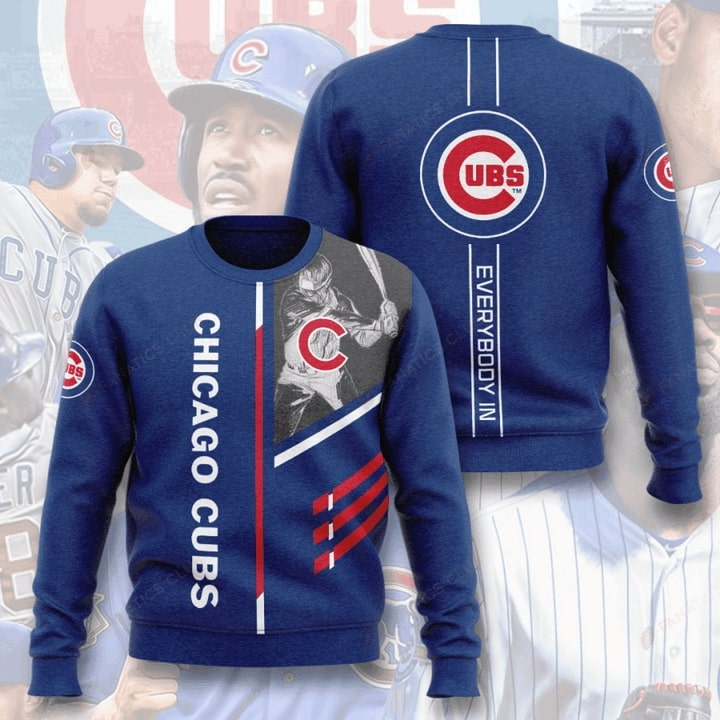 major league baseball chicago cubs everybody in full printing ugly sweater 3