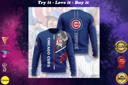 major league baseball chicago cubs everybody in full printing ugly sweater