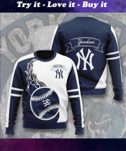 major league baseball new york yankees full printing ugly sweater