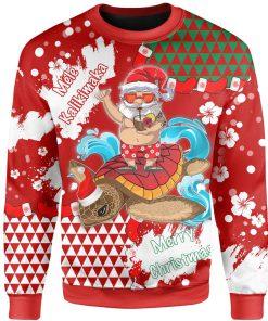 mele kalikimaka hawaiian full printing ugly sweater 3