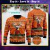 merry huntmas deer hunting full printing christmas ugly sweater