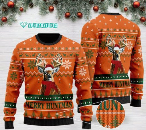 merry huntmas deer hunting full printing christmas ugly sweater 2 - Copy (2)