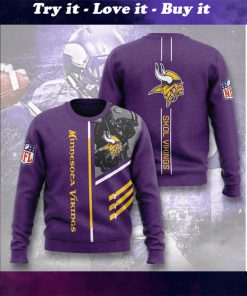 minnesota vikings skol vikings full printing ugly sweater