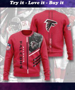 national football league atlanta falcons rise up full printing ugly sweater