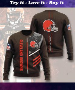 national football league cleveland browns dawg pound full printing ugly sweater