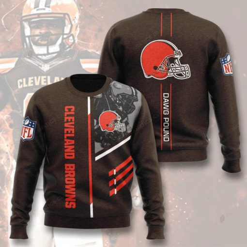 national football league cleveland browns dawg pound full printing ugly sweater 3