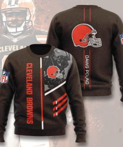 national football league cleveland browns dawg pound full printing ugly sweater 4