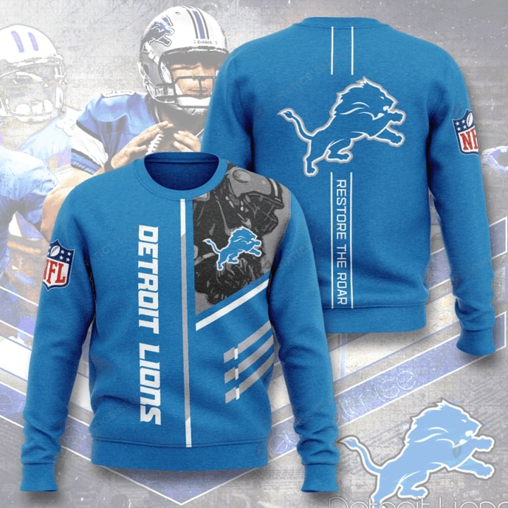 national football league detroit lions restore the roar full printing ugly sweater 2