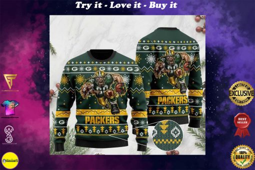 national football league green bay packers christmas ugly sweater