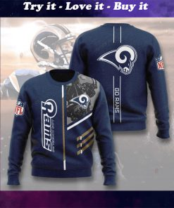 national football league los angeles rams go rams full printing ugly sweater