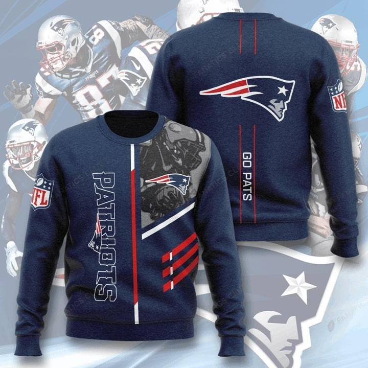 national football league new england patriots go pats full printing ugly sweater 2