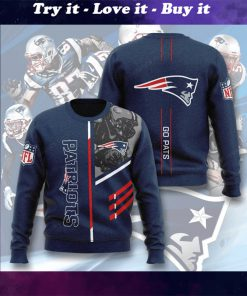 national football league new england patriots go pats full printing ugly sweater
