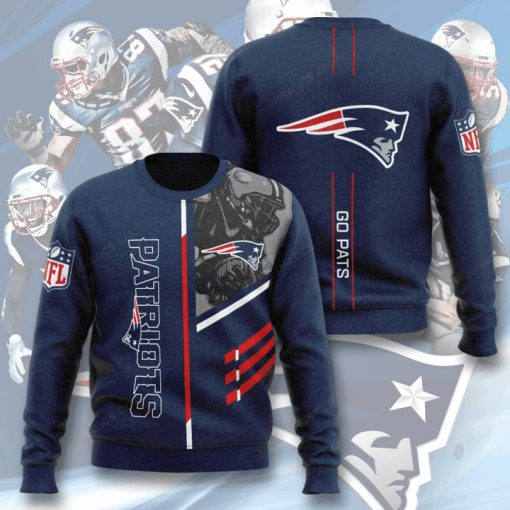 national football league new england patriots go pats full printing ugly sweater 3